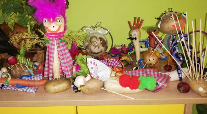 Sówki i warzywne kukiełki