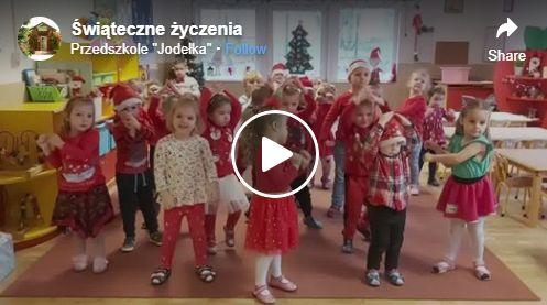 Świąteczne życzenia od Przedszkolaków